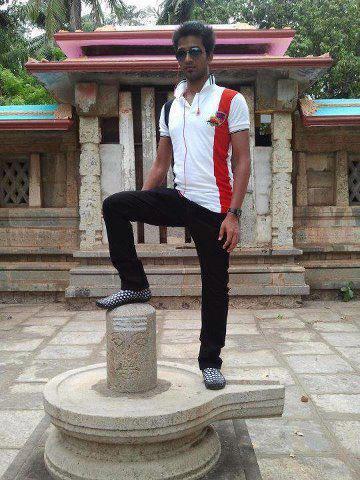 Laxman Johnson, a converted Christian steps on the diety of Hindu God Shiva