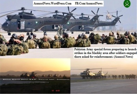 the ground soldiers need aerial assistance from PAF to counter Sarmachars, Pakistan preparing for aerial assistance