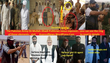 In this picture see the chain, Sarfarz Bugti is with Siraj Raisani, FC top brass and Islamic  terrorists at the same place, ISI agent Zaid Hamid, Jamat-e-Islami leader Ahmad Qazi, Imran Khan; what more is needed to certify Pakistan as a terrorist state?
