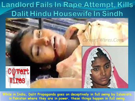 Landlord Fails In Rape Attempt, Kills Dalit Housewife in Sindh